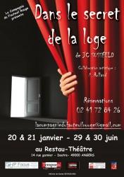 « Dans le Secret de la Loge », par La Compagnie du Fauteuil Rouge (Affiche)