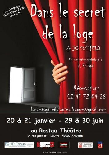 «Dans le Secret de la Loge», par La Compagnie du Fauteuil Rouge (Affiche)