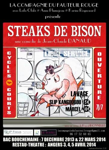 «Steaks de Bison», par La Compagnie du Fauteuil Rouge (Affiche)