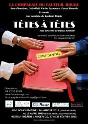 «Têtes à têtes», par La Compagnie du Fauteuil Rouge (affiche)