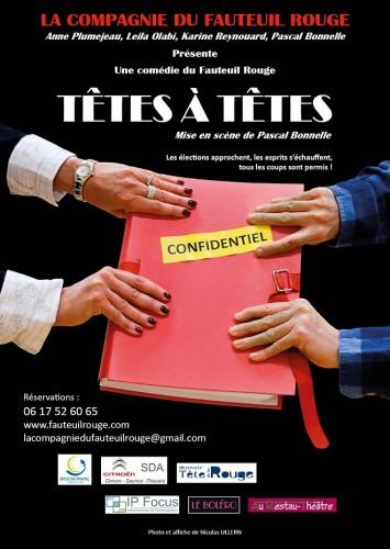 Comédie de Pascal Bonnelle, jouée par la Compagnie du Fauteuil Rouge et mise en scène par Pascal Bonnelle.