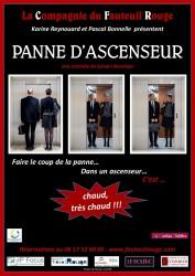 « Panne d'Ascenseur », par La Compagnie du Fauteuil Rouge (affiche)