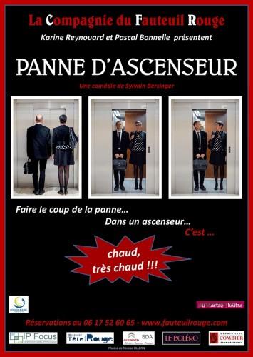 «Panne d'Ascenseur», par La Compagnie du Fauteuil Rouge (affiche)