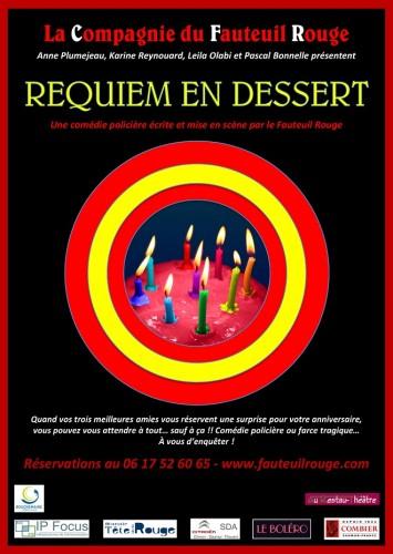 «Requiem en Dessert», par La Compagnie du Fauteuil Rouge (affiche)