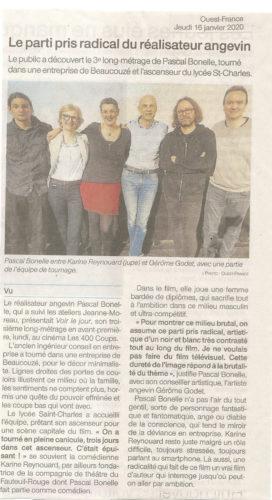 Ouest France 16 janv20